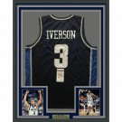Allen Iverson Signed Autographed Framed Georgetown Hoyas Jersey JSA