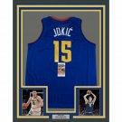 Nikola Jokic Signed Autographed Framed Denver Nuggets Jersey JSA