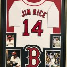 Jim Rice Autographed Signed Framed Boston Red Sox Jersey JSA