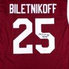 Fred Biletnikoff Autographed Signed FSU Seminoles Jersey JSA