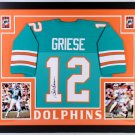 Bob Griese Autographed Signed Framed Miami Dolphins Jersey JSA