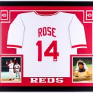 Pete Rose Autographed Signed Cincinnati Reds Framed Jersey JSA