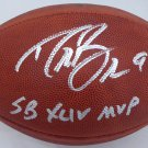 Drew Brees Autographed Signed Saints SB MVP Leather Football BECKETT
