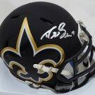 Drew Brees Autographed Signed New Orleans Saints AMP Mini Helmet BECKETT
