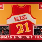 Dominique Wilkins Autographed Signed Framed Atlanta Hawks Jersey PSA