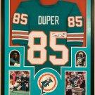 Mark Duper Autographed Signed Framed Miami Dolphins Jersey JSA