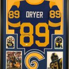Fred Dryer Autographed Signed Los Angeles Rams Framed Jersey SGC COA