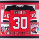 Martin Brodeur Autographed Signed New Jersey Devils Framed Jersey JSA