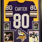 Cris Carter Autographed Signed Framed Minnesota Vikings Jersey BECKETT