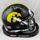 George Kittle 49ers Autographed Signed Iowa Hawkeyes Speed Mini Helmet BECKETT