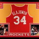 Hakeem Olajuwon Autographed Signed Framed Houston Rockets Jersey JSA