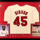 Bob Gibson Autographed Signed St. Louis Cardinals Framed Jersey JSA