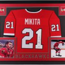 Stan Mikita Signed Autographed Framed Chicago Blackhawks Jersey BECKETT
