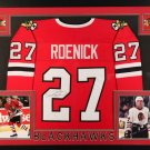 Jeremy Roenick Signed Autographed Chicago Blackhawks Framed Jersey JSA