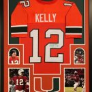 Jim Kelly Autographed Signed Framed Miami Hurricanes Jersey JSA