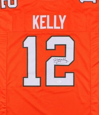 Jim Kelly Autographed Signed Miami Hurricanes Jersey JSA