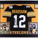 Terry Bradshaw Autographed Signed Framed Pittsburgh Steelers Jersey JSA COA