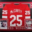 Darren McCarty Signed Autographed Detroit Red Wings Framed Jersey JSA