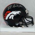 Rod Smith Signed Autographed Denver Broncos Mini Helmet SGC