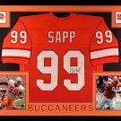 Warren Sapp Autographed Signed Framed Tampa Bay Buccaneers Jersey JSA