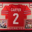 Cris Carter Vikings Autographed Signed Framed Ohio State Buckeyes Jersey JSA