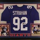 Michael Strahan Autographed Signed Framed New York Giants Jersey JSA
