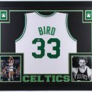 Larry Bird Autographed Signed Boston Celtics Framed Jersey BECKETT COA