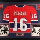 Henri Richard Autographed Signed Framed Montreal Canadiens Jersey JSA