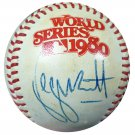 George Brett Royals Autographed Signed 1980 World Series Baseball BECKETT