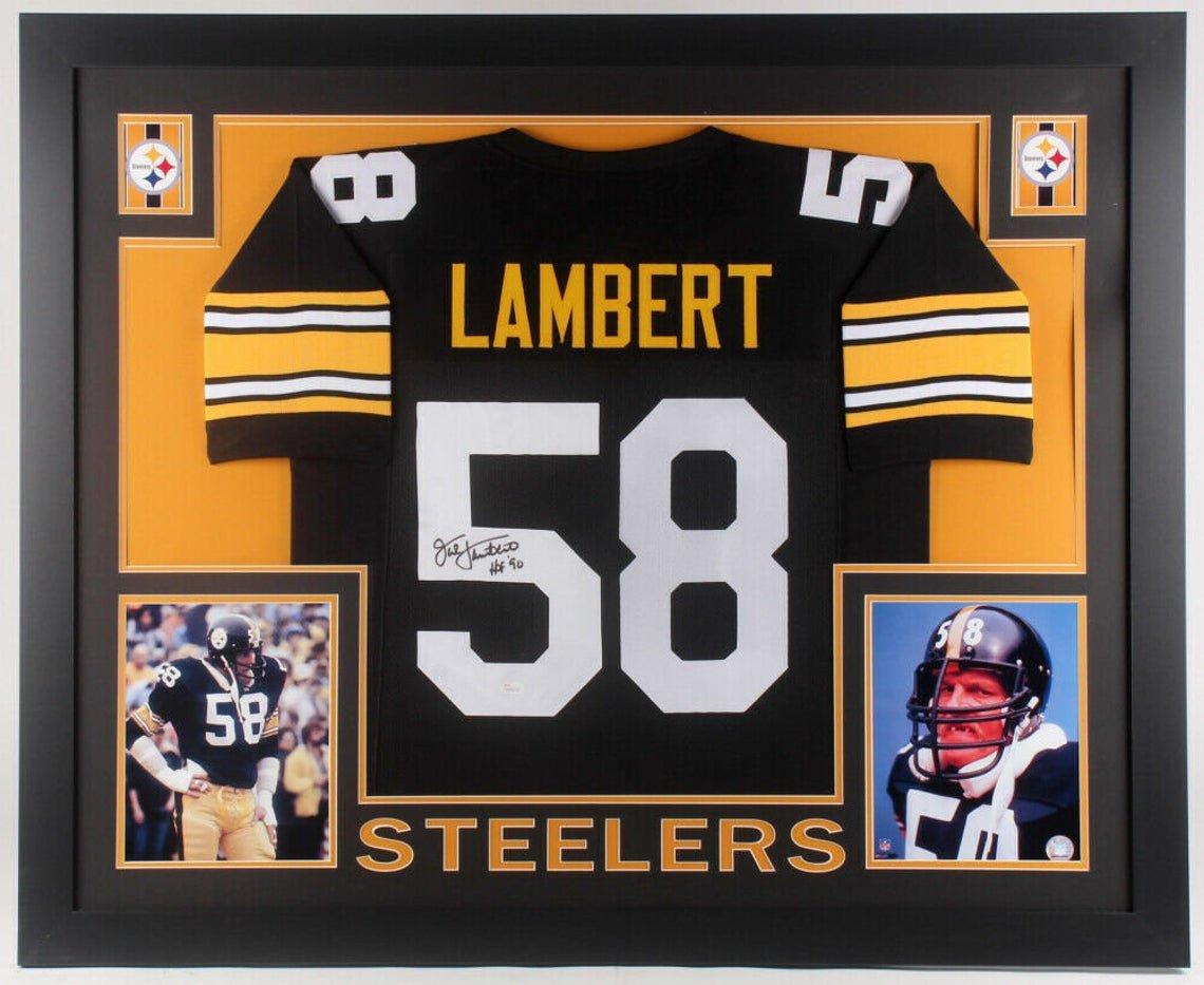 Jack Lambert Autographed Signed Pittsburgh Steelers Framed Jersey JSA