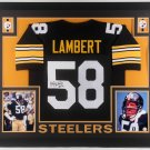 Jack Lambert Autographed Signed Pittsburgh Steelers Framed Jersey JSA