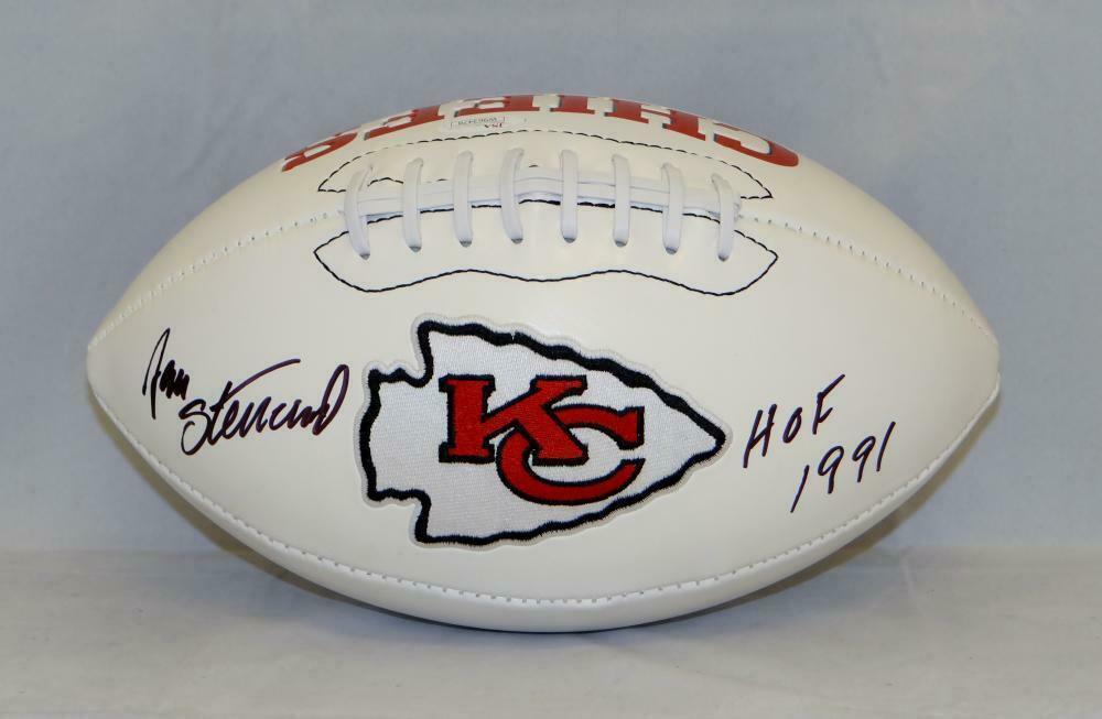 Jan Stenerud Signed Autographed Kansas City Chiefs Logo Football JSA