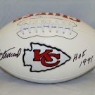 Jan Stenerud Signed Autographed Kansas City Chiefs Logo Football JSA