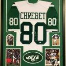 Wayne Chrebet Autographed Signed Framed New York Jets Jersey JSA