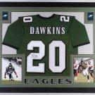 Brian Dawkins Autographed Signed Framed Philadelphia Eagles Jersey JSA