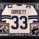 Tony Dorsett Autographed Signed Framed Dallas Cowboys Jersey JSA