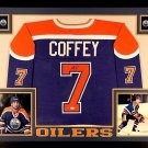 Paul Coffey Autographed Signed Framed Edmonton Oilers Jersey JSA