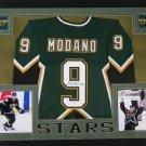 Mike Modano Signed Autographed Framed Dallas Stars Jersey JSA