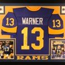 Kurt Warner Autographed Signed Framed St. Louis Rams Jersey JSA