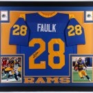 Marshall Faulk Autographed Signed Framed St. Louis Rams Jersey BECKETT