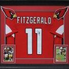 Larry Fitzgerald Autographed Signed Framed Arizona Cardinals Jersey BECKETT