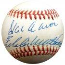 Hank Aaron & Eddie Mathews Braves Autographed Signed NL Baseball BECKETT