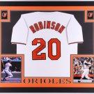 Frank Robinson Autographed Signed Framed Baltimore Orioles Jersey JSA