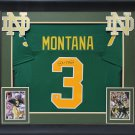 Joe Montana Autographed Signed Framed Notre Dame Fighting Irish Jersey BECKETT