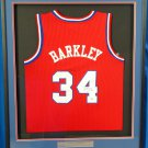 Charles Barkley Autographed Signed Framed 76ers Adidas Jersey BECKETT