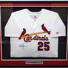 Mark McGwire Autographed Signed Framed St. Louis Cardinals Jersey STEINER