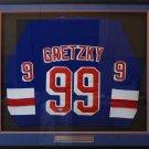 Wayne Gretzky Autographed Signed Framed New York Rangers CCM Jersey BECKETT