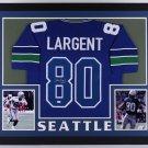 Steve Largent Autographed Signed Framed Seattle Seahawks Jersey JSA