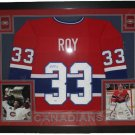 Patrick Roy Signed Autographed Montreal Canadiens Framed Jersey JSA