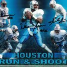 Houston Oilers Run N Shoot (Moon +4 Others) Signed Autographed 8x10 Photo JSA